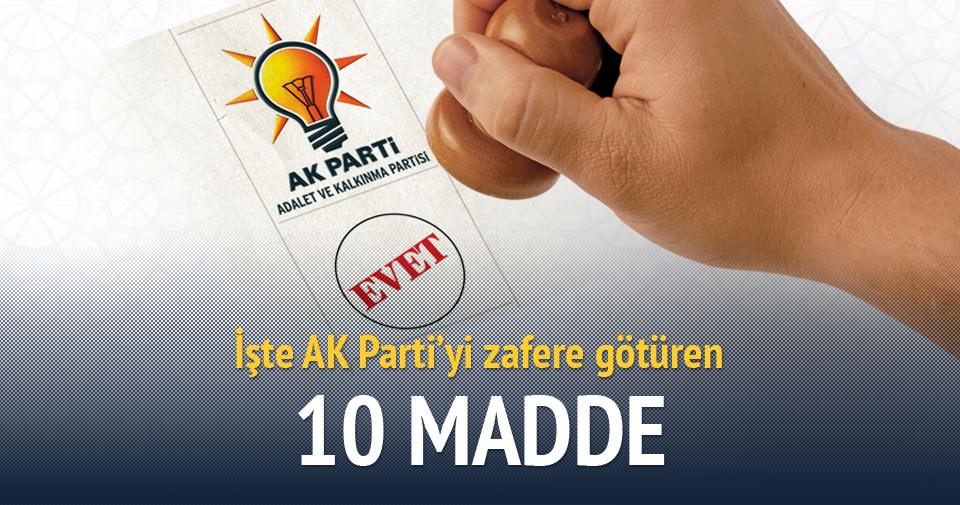 İşte AK Parti'yi zafere götüren 10 madde