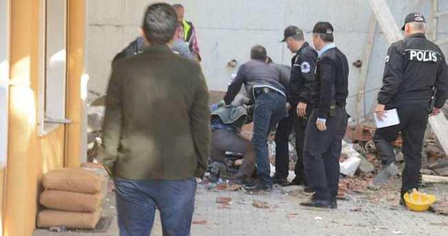 İsninat duvarı çöktü, altında kalan işçi öldü