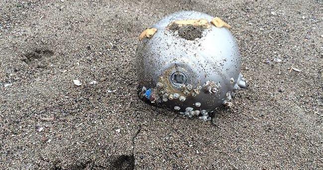 Esrarengiz cisim sahile vurdu