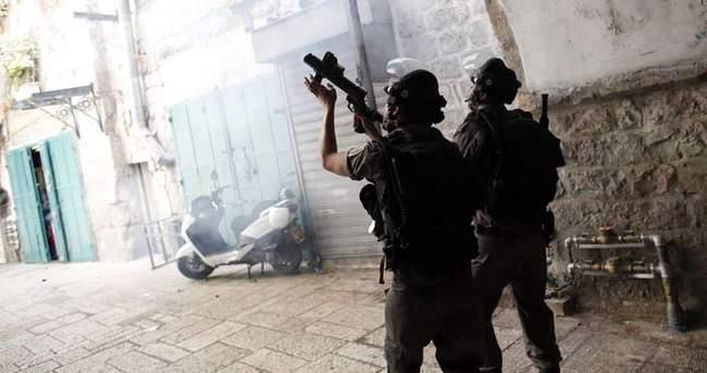 Batı Şeria'da İsrail askerleri göstericilere saldırdı!