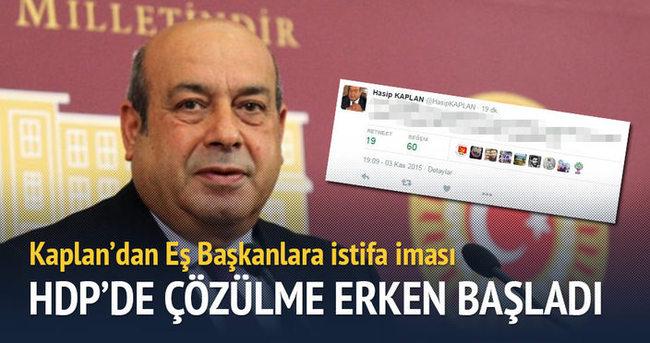HDP'de çözülme erken başladı