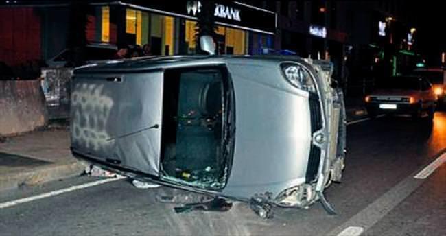 16 yaşındaki trafik canavarı kaza yaptı