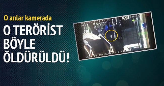 O terörist böyle öldürüldü! O anlar kamerada