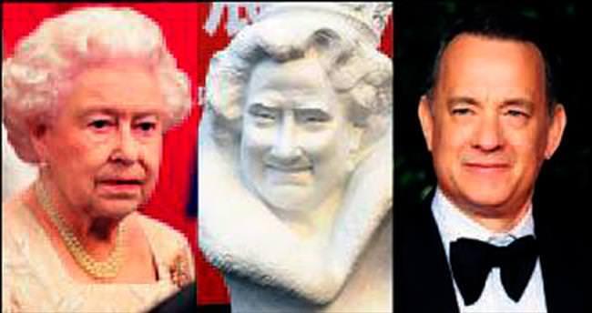 Kraliçe'ye değil Hanks'e benziyor!