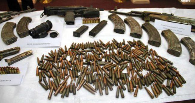 Terör örgütüne ait çok sayıda mühimmat ele geçirildi