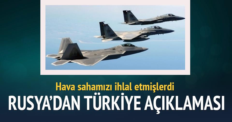 Rusya'dan Türkiye hava sahası açıklaması