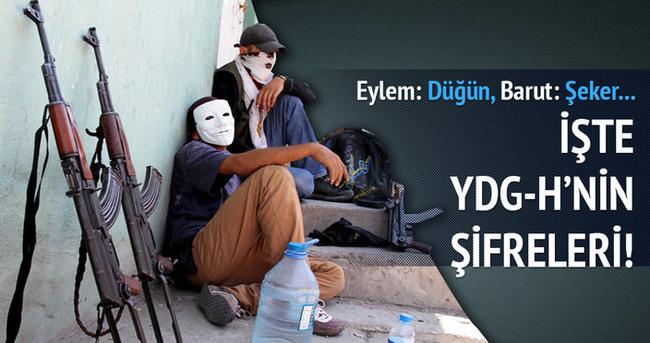 YDG-H'liler bütün eylemlerini şifrelemişler
