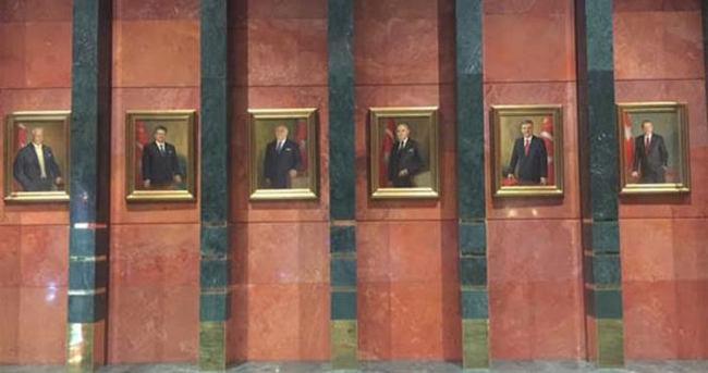 O tablolara Erdoğan da eklendi