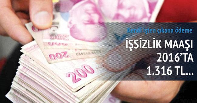 İşsizlik maaşının üst sınırı 2016'da 1.316 TL'ye çıkacak