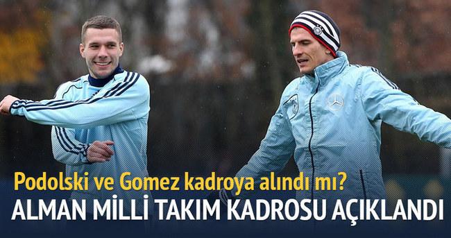 Gomez ve Podolski Alman milli takımı kadrosunda!