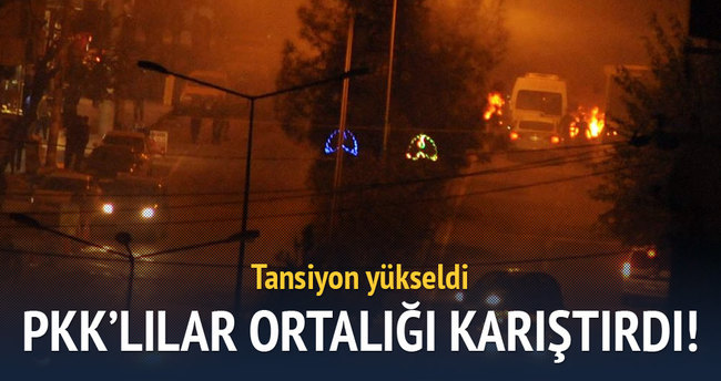 PKK'lılar ortalığı karıştırdı! Tansiyon yükseldi