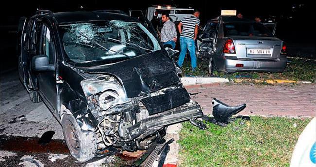 Işık ihlali kazası: 5 yaralı