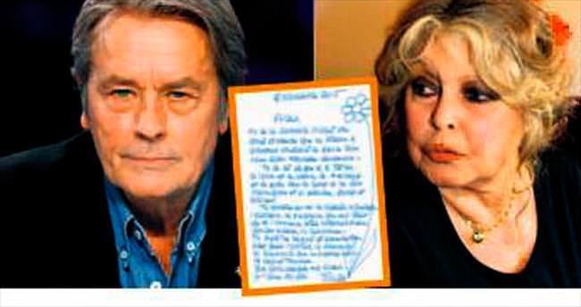 Bardot'dan Delon'a yaşgünü mektubu