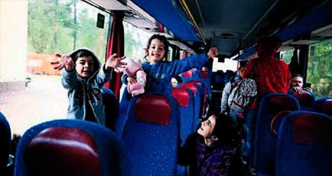 Sığınmacılardan otobüste protesto
