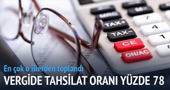 Vergide tahsilat oranı yüzde 78