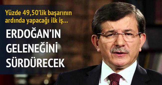 Davutoğlu, Erdoğan'ın geleneğini sürdürecek