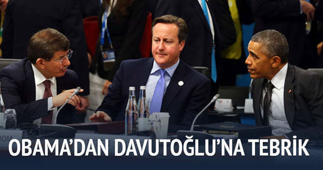 Obama Davutoğlu'nu tebrik etti