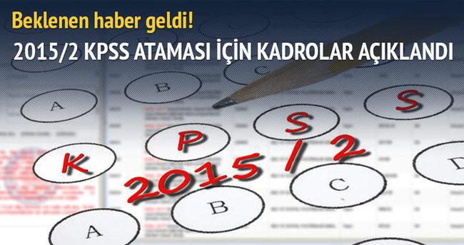 KPSS Kasım ataması için kadrolar açıklandı! Tıkla kado sayılarını öğren!