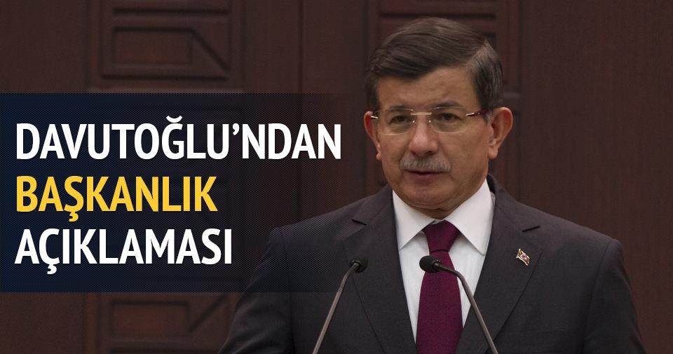 Başbakan Davutoğlu'ndan yeni anayasa çağrısı
