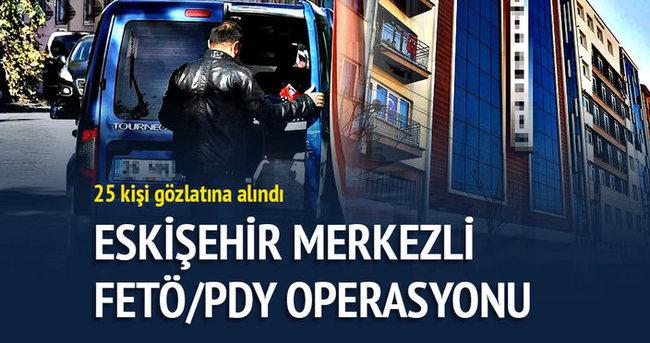Eskişehir'de FETÖ operasyonunda 25 gözaltı