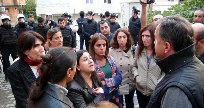 HDP'liler Silvan'a giremedi