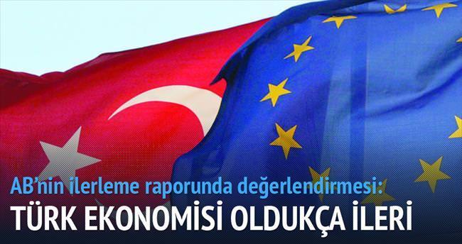 AB: Türk ekonomisi oldukça ileri