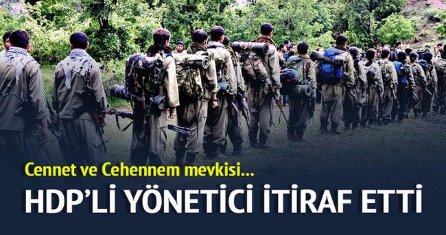HDP'li yönetici itiraf etti