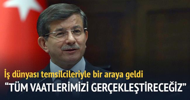 Başbakan Davutoğlu: Tüm vaatlerimizi gerçekleştireceğiz