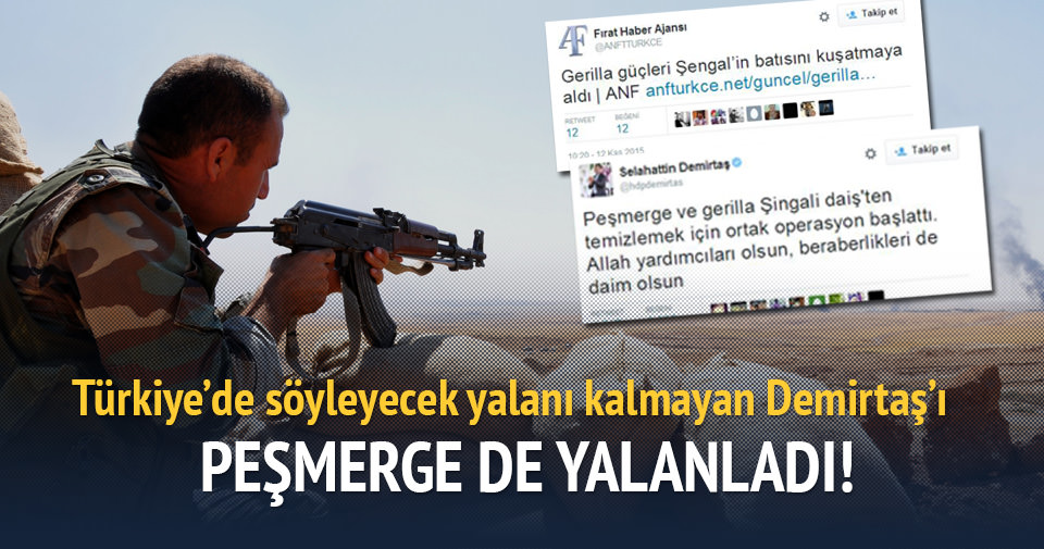 PKK'lı teröristler ve medyası, Sincar'da rezil oldu