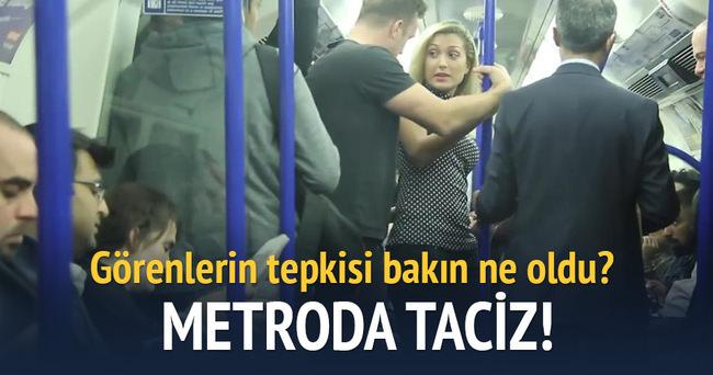 Metroda tacizle ilgili sosyal deney yapıldı