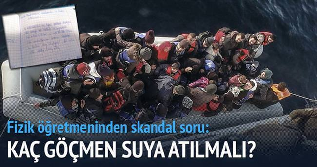 Öğrencilere ödev: Kaç göçmen suya atılmalı?
