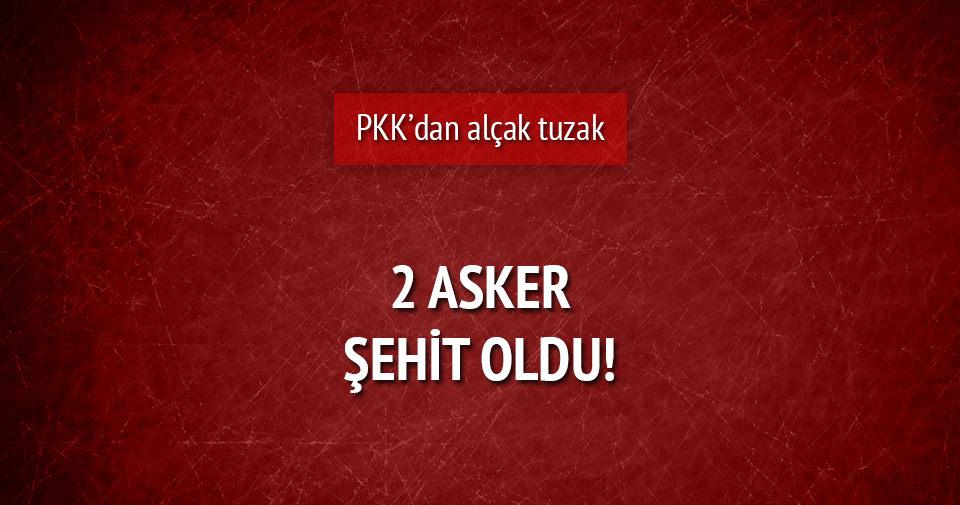 Lice'de PKK'dan mayınlı tuzak: 2 asker şehit