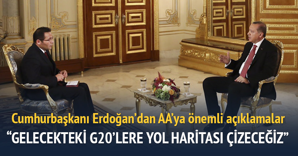 Erdoğan: Antalya Zirvesi gelecekteki G20'lere yol haritası çizecek