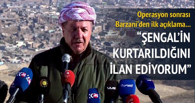 Barzani: Şengal'i Peşmerge kurtarmıştır!