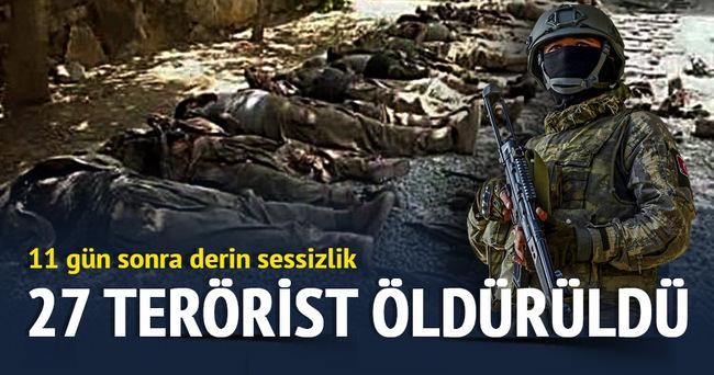 Silvan'da 27 terörist öldürüldü!