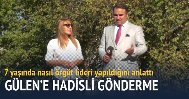 7 yaşında örgüt lideri yapılan Narin Korkmaz'dan Fethullah Gülen'e hadisli gönderme!
