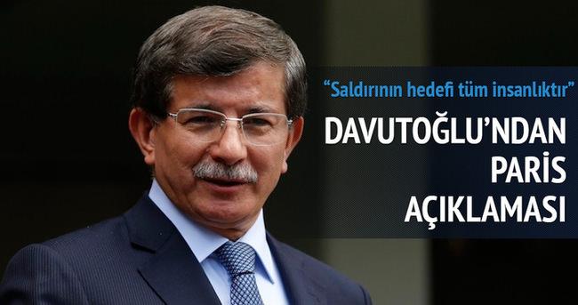 Başbakan Davutoğlu'ndan Paris açıklaması
