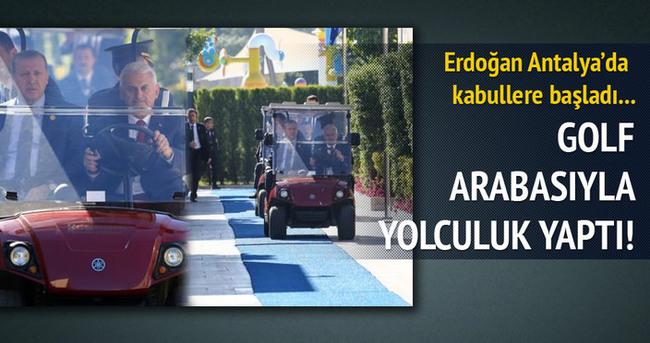 Cumhurbaşkanı Erdoğan kabullere başladı!