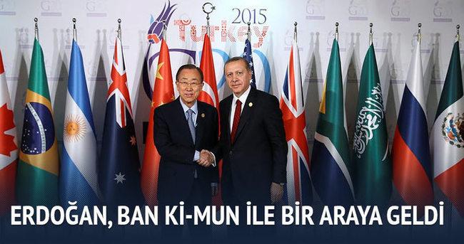 Cumhurbaşkanı Erdoğan, Ban Ki-Mun ile bir araya geldi