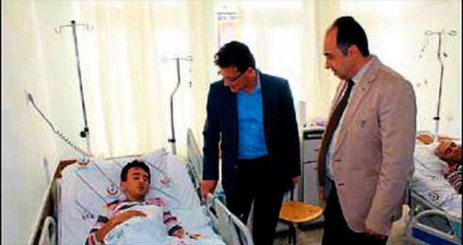 Uslu ve Sarıoğlu'dan hastalara moral