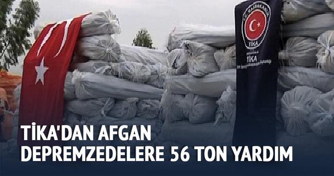 TİKA'dan Afgan depremzedelere 56 ton yardım