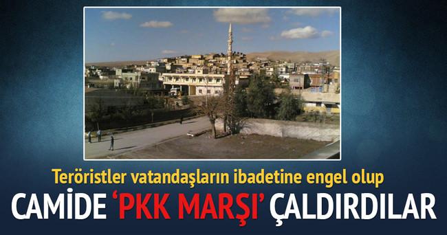 Teröristler camide 'PKK marşı' çaldı