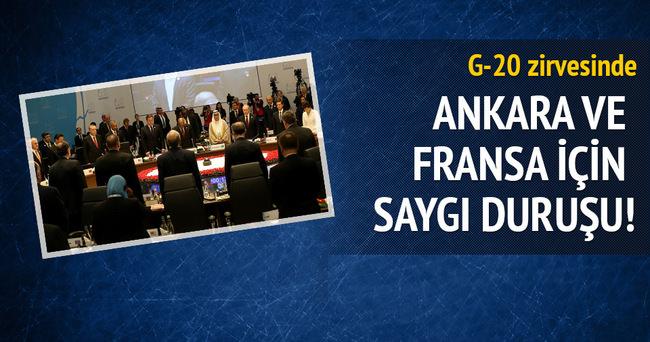 G20'de Ankara ve Paris için saygı duruşu