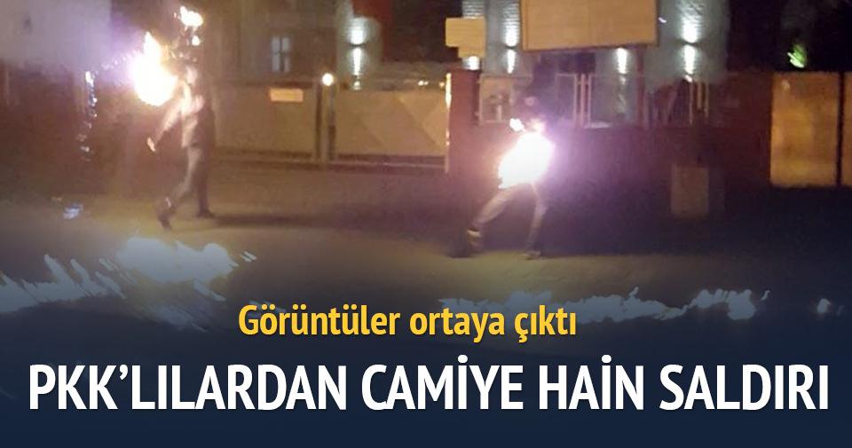 PKK yandaşları molotofla camiye saldırdı!