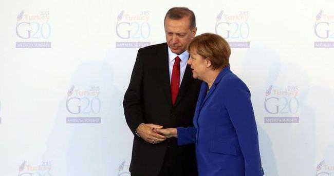 Cumhurbaşkanı Erdoğan Merkel'i kabul etti
