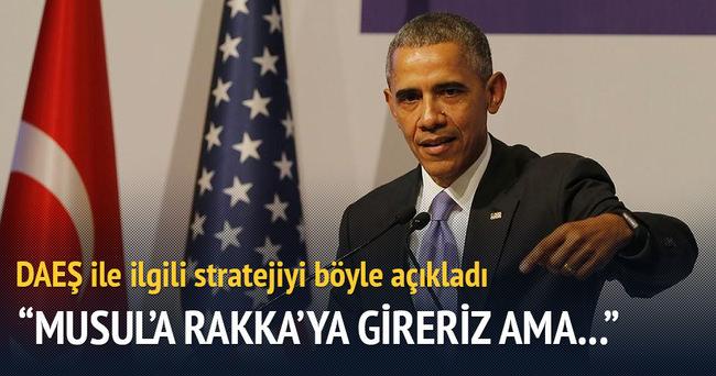 Obama: 'Askerlerin sahaya inmesi düşüncesi yanlıştır'