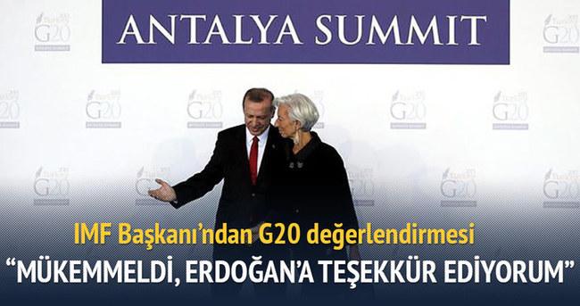 Mükemmeldi, Erdoğan'a teşekkür ediyorum