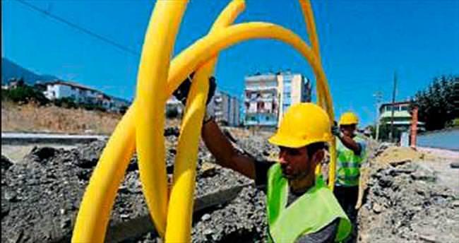 Kepez'e yeni doğalgaz hattı