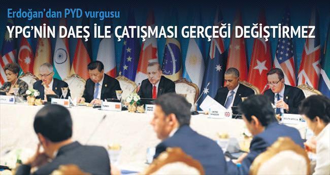 Erdoğan'dan PYD vurgusu
