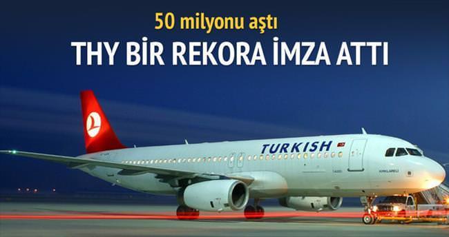 THY 50 milyon yolcuyu aştı
